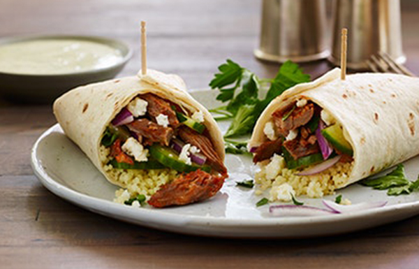 Halaby Pepper Roasted Lamb Burrito With Couscous