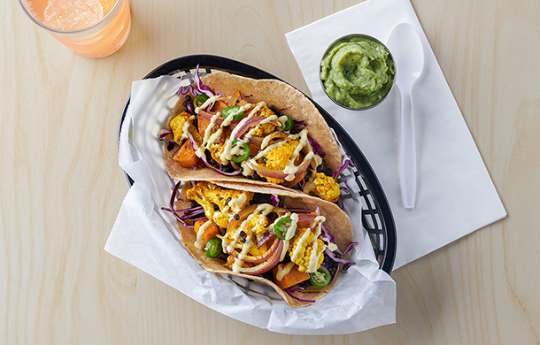 Curried Cauliflower and Black Lentil Tacos